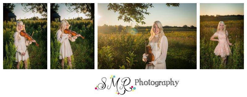 high school senior girl, violen, field