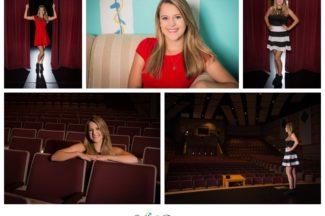 Senior Girl, theater, drama, curtains, stage