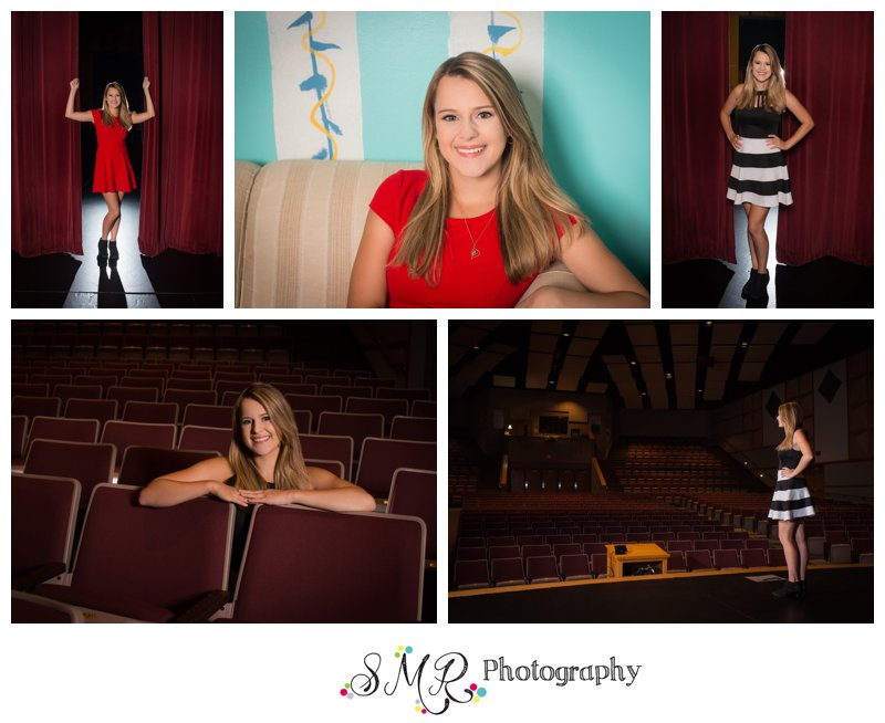 Senior Girl, theater, drama, curtains, stage