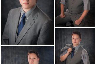 Senior guy, yearbook photo, suit