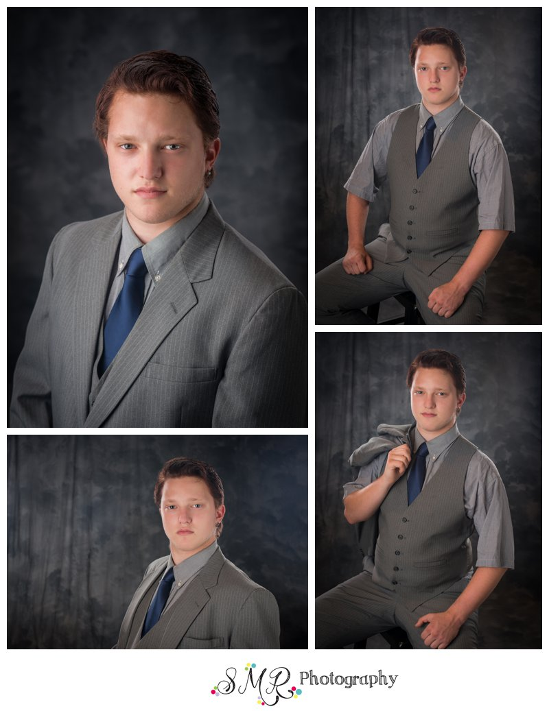 Senior guy, yearbook photo, suit