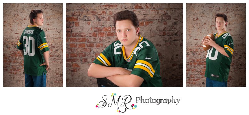 Senior guy, football, green bay packers