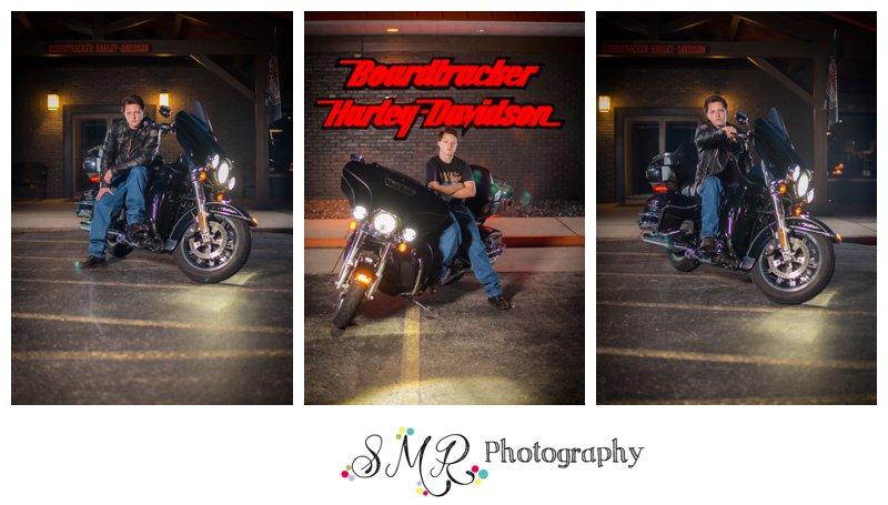 Senior guy, motorcycle, harley davidson