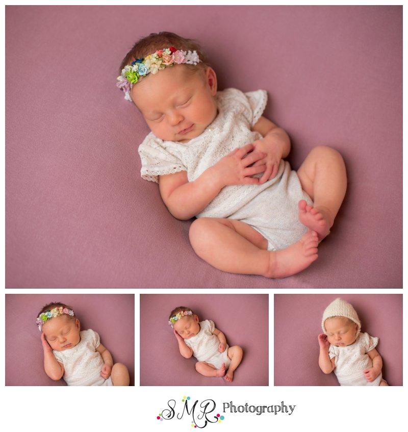 baby girl, newborn, rainbow baby, pink